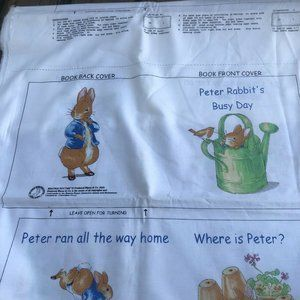 BEATRIX POTTER PETER RABBIT Busy Day Fabric Book